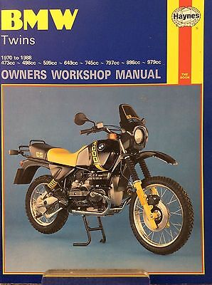 HAYNES BMW TWINS - 1970 to 1988 - Book 249 - VERY GOOD CONDITION