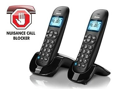 Binatone vesta1305 digital cordless telephone twin handsfree  call blocker