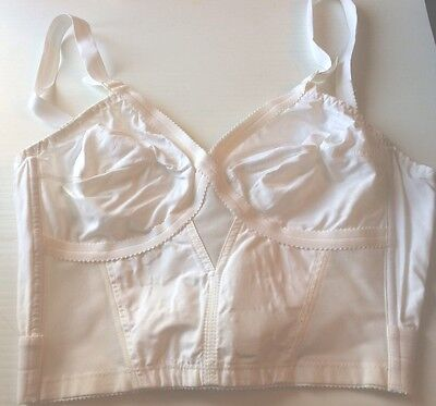 White Longline cross your heart bra 36C Playtex style 235 Vintage BNIB
