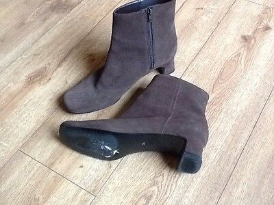 M&S Suede Ankle Boots Size 7.5