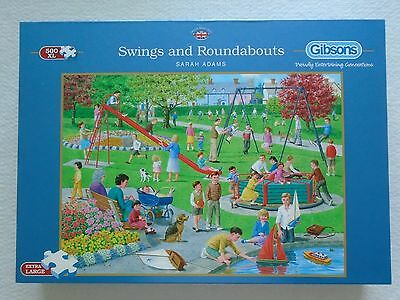 Gibsons 500 Extra Large Piece Jigsaw Puzzle 'swings And Roundabouts'