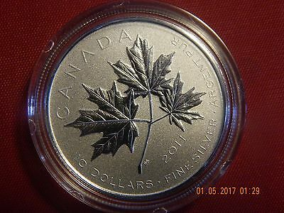 2011 Canada Fine Silver $10 Maple Leaf Forever (Mint Box and COA)