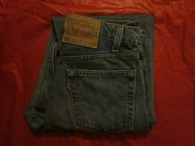 Levi Strauss & Co Blue 555 Relaxed Fit Straight Leg Made In The Usa Jeans 30X32