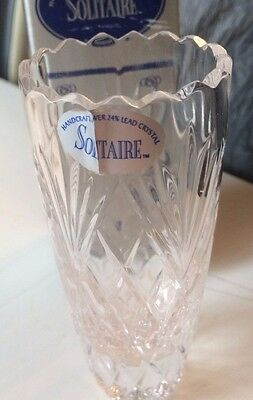Solitaire Crystal Glass vase