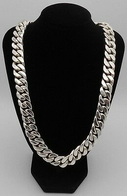 Mens Colossal Half Kilo 500 Grams Solid 925 Sterling Silver Curb Chain