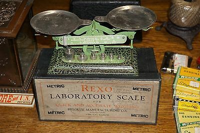 Small Vintage Rexo Laboratory Scale with original box