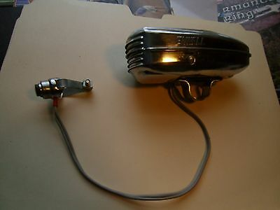 Vintage Enwell Chrome Plated Bicycle Horn W/ Button