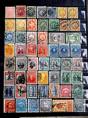 Small used stamps collection of Bolivia as scan.