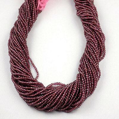 """5 Strand Mozambique Garnet Rondelle 2.20mm Micro Faceted Gemstone Bead 13"""" Long"""