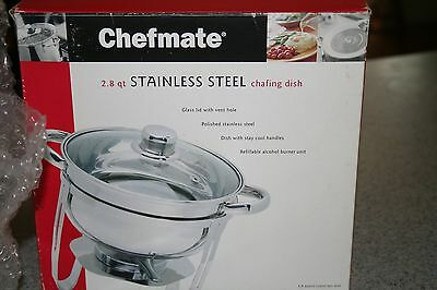 Chefmate 2.8 Quart Stainless Steel Chafing Dish (New in the box!)
