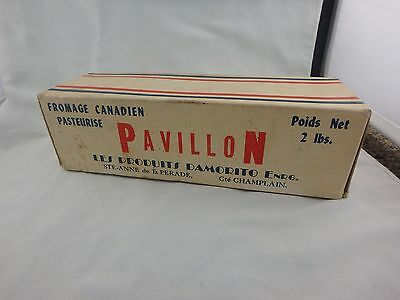 Vintage Canadian Pasteurized Cheese Cardboard Box - Champlain Quebec