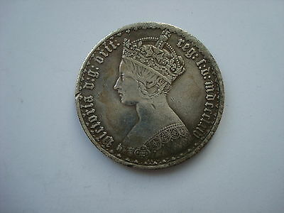 Gothic Florin Two Shillings Queen Victoria Britain UK British