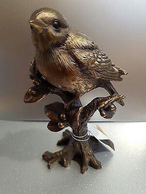 Bronzed Robin Bird Bronze Reflections by Leonardo Figurine *BRAND NEW BOXED*