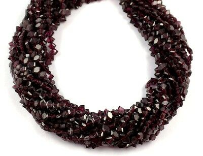 "1 Strand Natural Garnet Faceted Fancy Shape Loose Gemstone Beads 4x6mm 13"" Long"