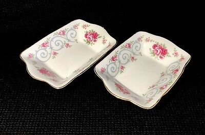 "Tuscan ""Antoinette"" Candy Sweet/ Pickle Dishes Set Of 2 Bone China England"