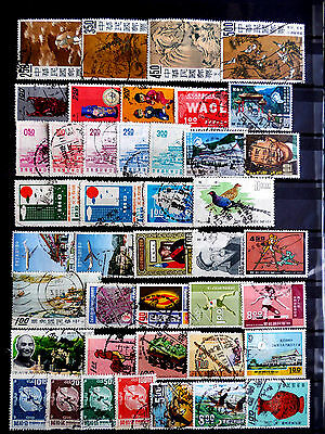 Small used stamps collection of Taiwan as scan.