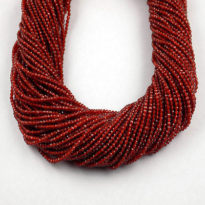 """5 Strand Red Onyx Rondelle Shape 2.20mm Micro Faceted Gemstone Beads 13"""" Long"""