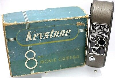 Boxed - Keystone Model K-36 8mm Single Lens D Mount Movie Film Camera Body Only
