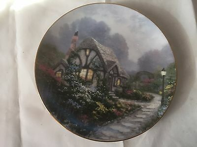 Chandler's Cottage Collector Plate By Thomas Kinkade Plate #3378j 1991 8 1/2""