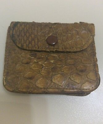 Antique 1922 Genuine Snakeskin Purse