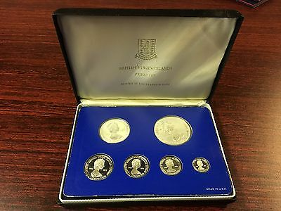 British Virgin Islands 6 Coin Proof Set Franklin Mint USA 1978 Royal Coronation