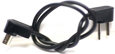 Vintage - Unbranded Straight 7in. PC Sync to 6mm 2 Pin Flash Cable Cord