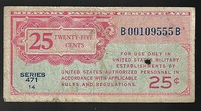 Series 471 Military Payment Certificate 25 Cents