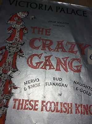 1950's theatre programme THE CRAZY GANG