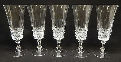 Set of 5 Cristal D'Arques-Durand TUILLERIES VILLANDRY Fluted Champagne Glasses