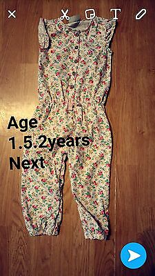 Girls Next Playsuit Size 1 1/2-2Years