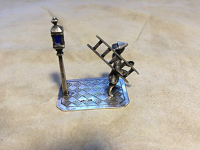 Dutch Miniature Sterling Silver Lamplighter B