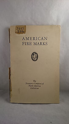 1933 American Fire Marks INA Insurance Company of North America