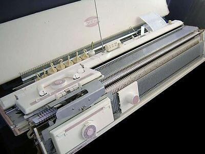 Brother Chunky knitting machine Package KH-260 with KR260 Ribber brilliant white