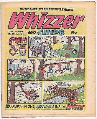 Whizzer and Chips 13 Dec 1975 (top grade) Sid's Snake, Odd-Ball, Loser...