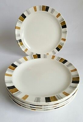 Vintage Midwinter Queensberry Stripe Side Plate x 6