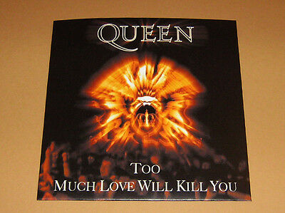 QUEEN - TO MUCH LOVE WILL KILL YOU  - Rare 45 rpm PICTURE FAN SLEEVE