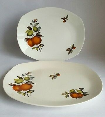 "Vintage Midwinter Stylecraft ""Oranges & Lemons' Platters x 2 by John Russell"