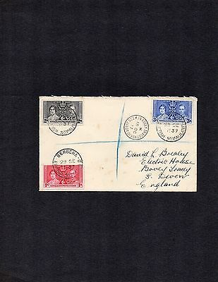 Somaliland Protectorate;1937 Sept 29th Coronation cover full set Berbera cancel