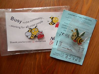 charity pin badges - 2 Bee - see photo