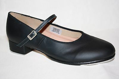 Bloch Black Tap Shoes Leather Techno Tap #1T // #2H Womens SIZE 10