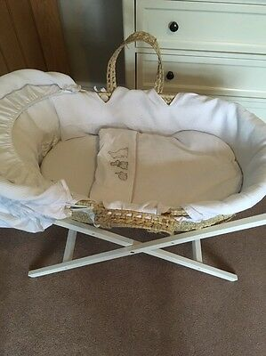 Mamas and Papas Moses Basket With Stand.   Excellent Condition!!!
