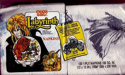 Labyrinth Napkin - BOWIE (great DAVID BOWIE collector item)