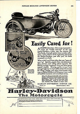 Harly  antique motorcycle advertising