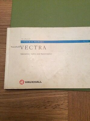 Vauxhall Vectra Owners Manual 98-02