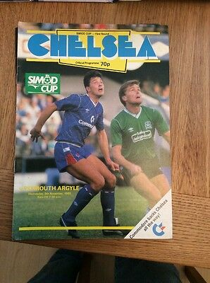 Chelsea V Plymouth Simod Cup 1988/89