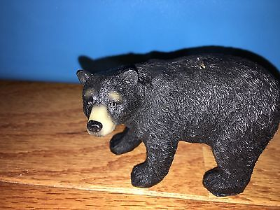 Hard Plastic Life Like Black Bear Animal Figure Toy