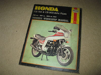 Haynes Honda Motorcycle Workshop Manual CB750 900 DOHC Fours