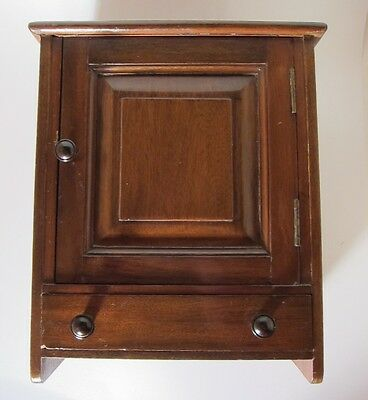 Small Mid 20th Century handmade Arts and Crafts cabinet Signed