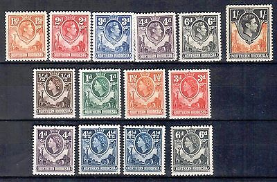 Northern Rhodsia - 1938-54 KG VI QE. II Definitives & Bechuanaland Protectorate
