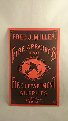 1978 Vintage Reproduction Fred Miller Fire Apparatus & Department Supply Catalog